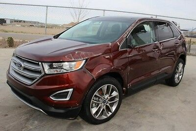 2015 Ford Edge Titanium AWD 2015 Ford Edge Titanium AWD Damaged Salvage Only 10K Miles Loaded w Options L@@K