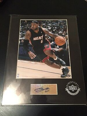LEBRON JAMES Custom Matted Autograph 8x10!! Ready To Frame! Upper Deck COA!