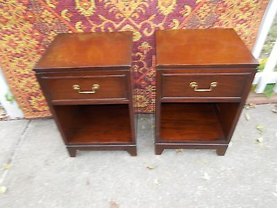 ANTIQUE 1940s Mahogany1 DRAWER Nightstands GRAND RAPIDS FURNITURE CO.
