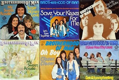 """7"""" 6x BROTHERHOOD OF MAN My Sweet Rosalie/Oh Boy/Save Your Kisses For Me/Kiss Me"""