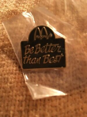 Vintage McDonald Pin - Be Better Than Best