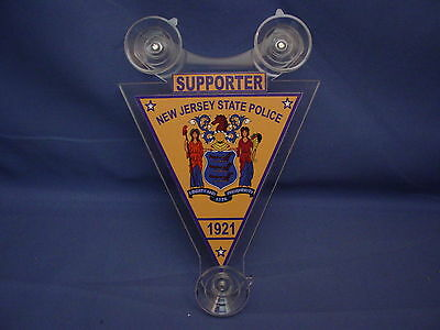 Njsp  New Jersey State Police   Police Supporter Car Shield  Pba -Fop -02