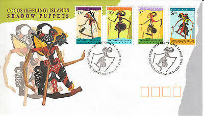 Cocos(Keeling) Islands Shadow Puppets First Day Cover
