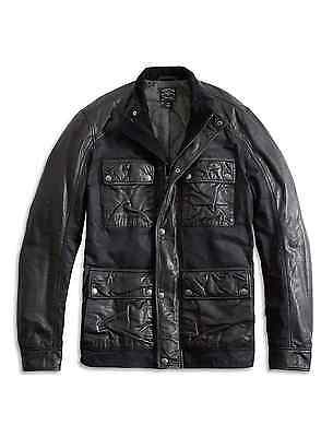 Lucky Brand Black Label Men's Lambskin Leather Wax Mix Jacket $299 NEW L