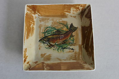 Robert Gordon Australian Signed Pate Plate Or Side Plate Trout Design