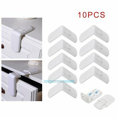 10 PCS Child Safety Lock Drawer Cabinet Lock Drawer Child Protection 【UK】