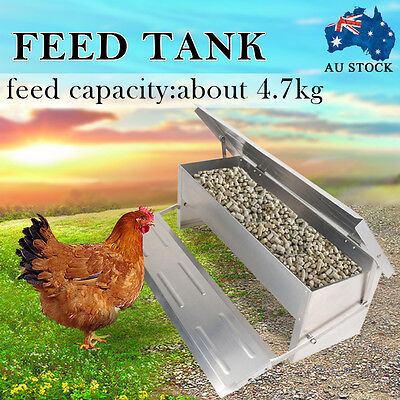 4.7kg Automatic Aluminum Chicken Feeder Treadle Chook Poultry Self Assembled