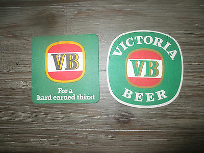 2 Different VICTORIA BITTER  BREWERY, Issue collectable COASTERS