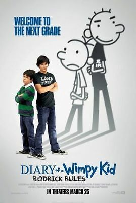 DIARY OF A WIMPY KID 2 - RODRICK RULES - 13.5x20 D/S ORIGINAL MOVIE POSTER