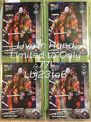 2016 Topps Now WWE NXT ASUKA IN HAND LIVE LIMITED TO /77 Mickie James NXT-2 Wow