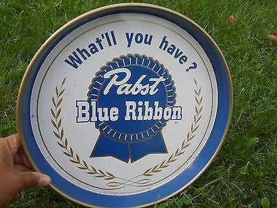 Vintage Pabst Blue Ribbon Beer Tray
