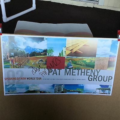 "Pat Metheny autographed ""speaking of now"". Promo poster"