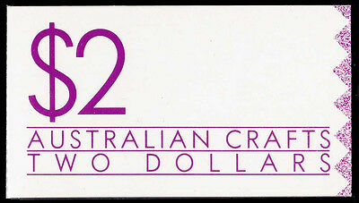 Two 1988 $2 Australian Crafts booklets.Both WHITE & CREAM papers  • FREE POST •