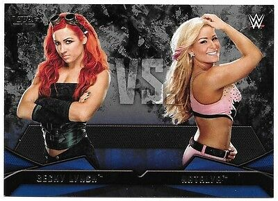 2016 Topps WWE Then Now Forever WWE Rivalries #14 Natalya vs. Becky Lynch