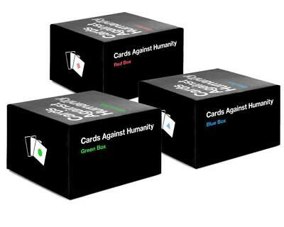 New Cards Against Humanity Bundels - Blue Red Green Expansion Boxes