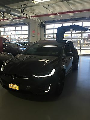 2016 Tesla Model X  Ludicrous P90D Tesla model X Midnight Silver Metallic