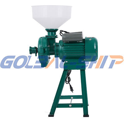 220V Electric Animal Poultry Feed Mill Wet Dry Grinder Corn Grain Rice Wheat