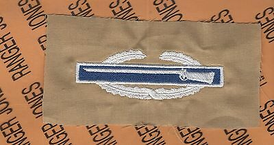 US Army CIB Combat Infantrymans Badge Blue/ Tan qualification patch