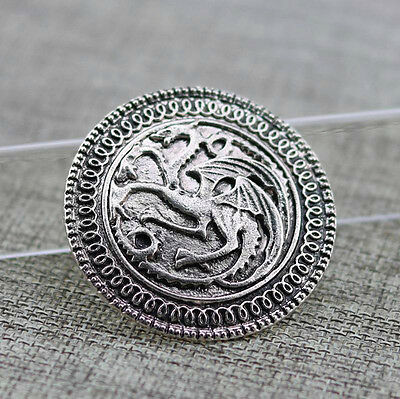 Song of Ice and Fire Game of Thrones Targaryen dragon brooch badge
