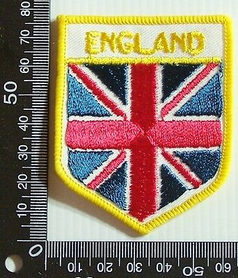 Vintage England English Embroidered Souvenir Patch Woven Cloth Sew-On Badge