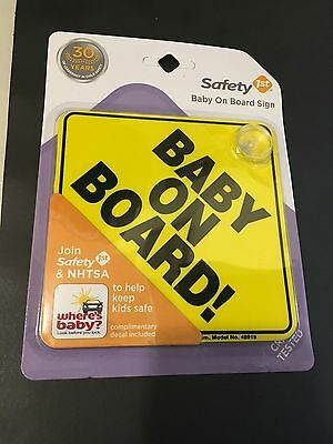 "SAFETY 1ST Yellow ""Baby On Board"" Sign"