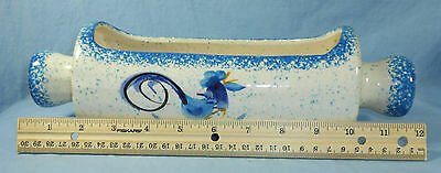 Rolling Pin w/Rooster Kitchen Planter Catch-all Container CALIFORNIA POTTERY