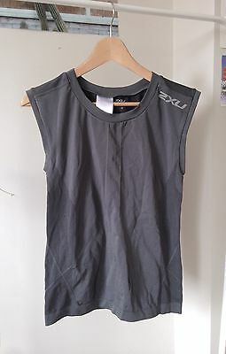 (2XU) LARGE L - Women's Compression Exercise Sport Sleeveless Singlet Tank Top