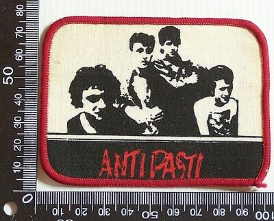 Vintage Anti Pasti Embroidered Souvenir Jacket Patch Woven Cloth Sew-On Badge