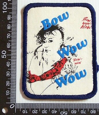 Vintage Bowwowwow Embroidered Souvenir Patch Woven Cloth Sew-On Badge