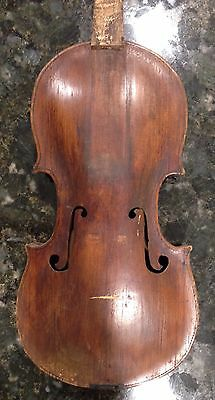 Old Antique Violin For Repair 18th Century Grafted Neck