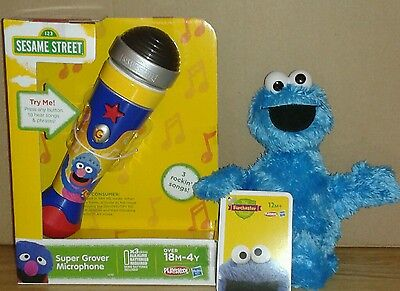 Sesame Street The Furchester Hotel Super Grover Microphone+Cookie Monster
