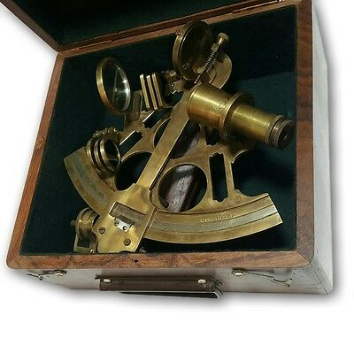 royal navy large antique vintage marine nautical box sextant  AFUSF NS 07