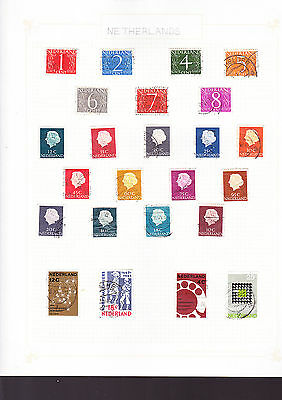 Netherlands Stamps 4 Pages of Stamps