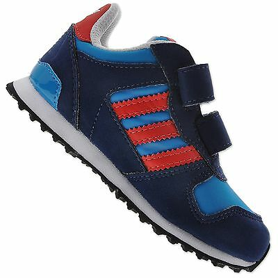 Adidas Originals Zx 700 Cf Infant Children Baby Boys Shoes Trainers Blue Red
