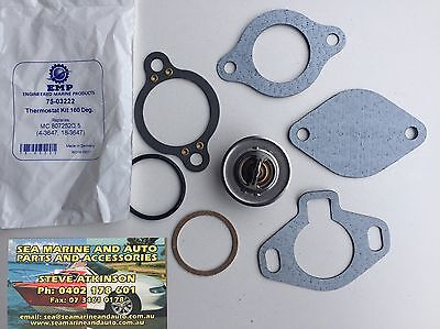 Thermostat Kit For Mercruiser 807252Q5 1987 & Newer Gm Engines 160