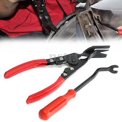 Car Door Panel Trim Clip Removal Plier & Upholstery Remover Pry Bar Tool Set Au