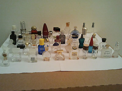 Bulk Lot Vintage / Old 42 Empty Mini Perfume Bottles Collectible Rare Fragrance