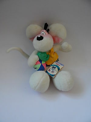 Diddl Mouse Soft Toy Carrying A Beach Towel And Beach Ball With Tag By Depesche