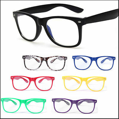Fashion Cool Mens Womens Square Clear UV400 Lens Glasses Vintage Nerd Glasses