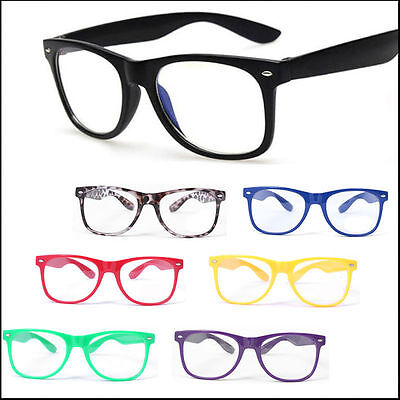 New Fashion Cool Mens Womens Square Clear Lens Glasses Vintage Nerd Glasses Lot