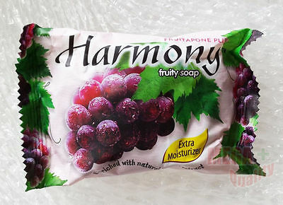 Harmony Fruity Soap Bar Fruitapone Plus Enriched with Natural Grape Extract 75g
