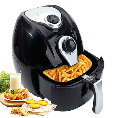 1500W Electric Air Fryer Multifunction Programmable Timer W/ Temperature Control