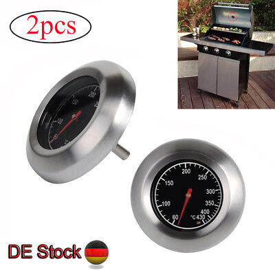 2x BBQ Gasgrill Backofen Thermometer Bratenthermometer Grillthermometer 60℃-430℃