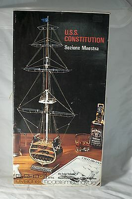 USS Constitution Sezione Maestra Midship Section Wooden Warship 1:93 Scale Model