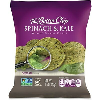 The Better Chip Spinach/Kale Chips - Gluten-free - Spinach & Kale - Bag - 1...