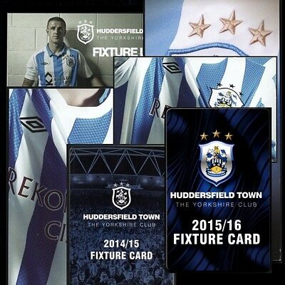 HUDDERSFIELD TOWN fixture cards 2000s -listed- *FREE POSTAGE*
