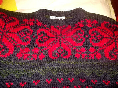 vintage Norweger Strickpullover NORSK bergen hand knits knitted pullover XL