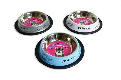 Stainless Steel Cat Bowl With Non Slip Base 150Ml