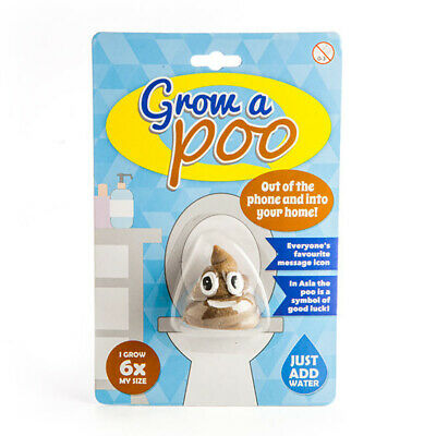 Grow a Poo Novelty Gift Humorous  Novelty Funny Gag Gift Emoji Face