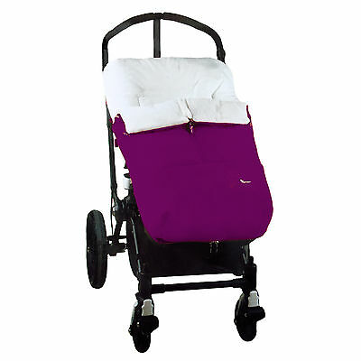 New Interbaby Purple Designer Pushchair Footmuff Cocoon Universal Baby Cosytoes
